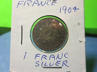 1904 Franc Silver Old Coin 2