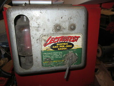 Vintage Kent Moore Automotive Garage Lectrotest Electric Gas-Per-Mile Fuel Gauge