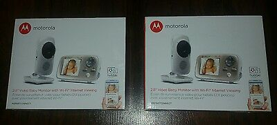 2 Brand New Motorola 2.8 inch Video Baby Monitor with Wi-Fi - MBP667CONNECT