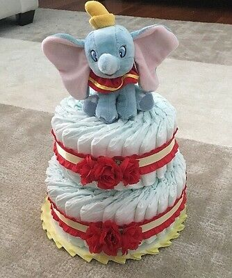 New Baby Disney Dumbo Pampers Diaper Cake Size 1