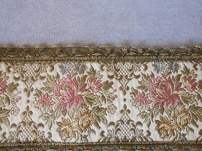 Vintage european Embroidery gilded + FLOWERS PIECE DOILY PLACEMAT