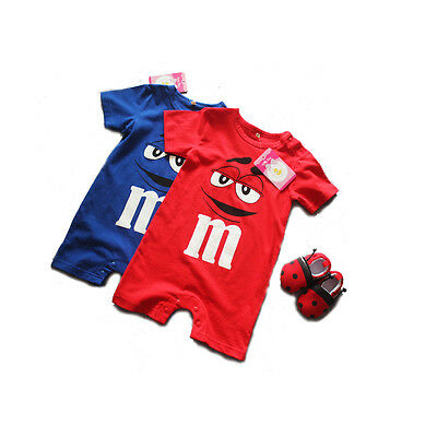 Infant Toddler Baby Boys Girls Romper Letters Smiling Jumpsuit Outfit Clothes