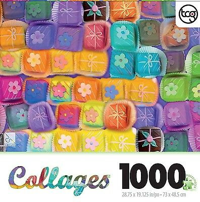 Alix Mullins Petit Fours Collage 1000 Piece Jigsaw Puzzle New Free Shipping
