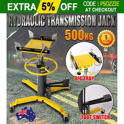 0.5 Ton Hydraulic Transmission Jack Stand Car Gearbox Lifter Hoist 2 Stage 500kg