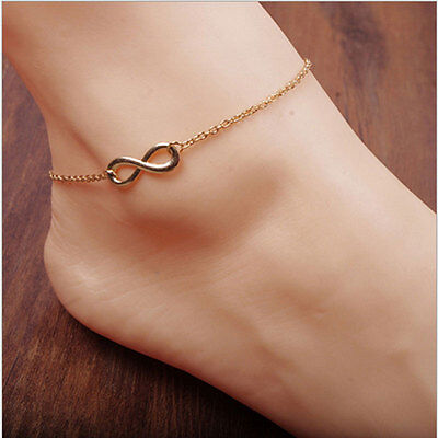 Chic Women Gold Plated Ankle Chain Anklet Bracelet Foot Jewelry Sandal Beach
