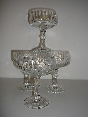 Schott-Zwiesel Flamenco crystal champagne glasses x 4 made in Germany