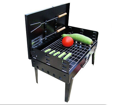 Portable BBQ Grill Charcoal Roaster kit Fast Post Inside Outside Work Camping