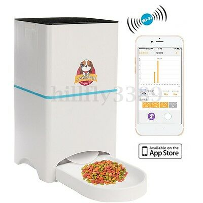 Automatic Pet Feeder For Dog Cat iOS Android APP Wifi Timer Food Dispenser Bowl