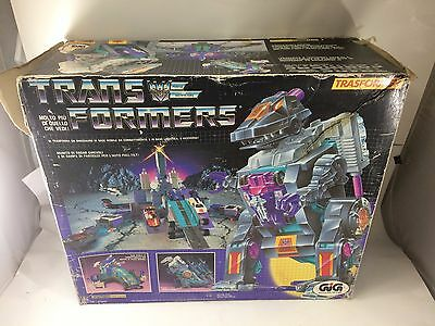 TRANSFORMERS TRYPTICON 1980s G1 DECEPTICON gig trasformer distructors WORKING