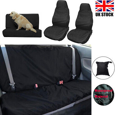 Heavy Duty FRONT / REAR WATERPROOF CAR SEAT COVER DOG PET PROTECTOR Van Nylon