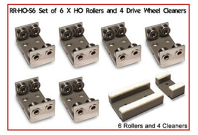Proses RR-HO-S6 Set Of 6 Rollers And Cleaners For HO/OO - Aust Warranty