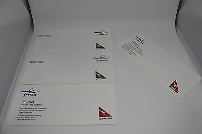 Qantas express lane airport arrival and departure cards