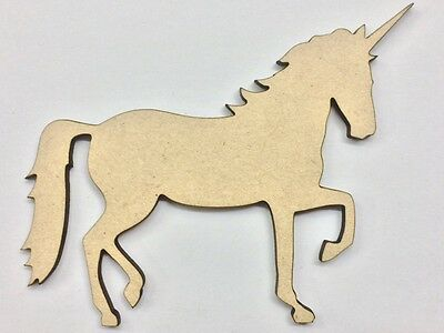 Ten (10) x 7cm MDF Wood Unicorns Craft 3mm MDF Ready To Prime and Paint