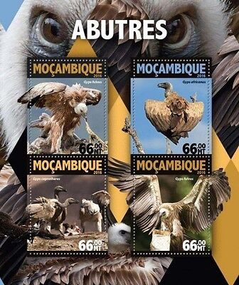 Z08 IMPERFORATED MOZ16127a MOZAMBIQUE 2016 Vultures MNH