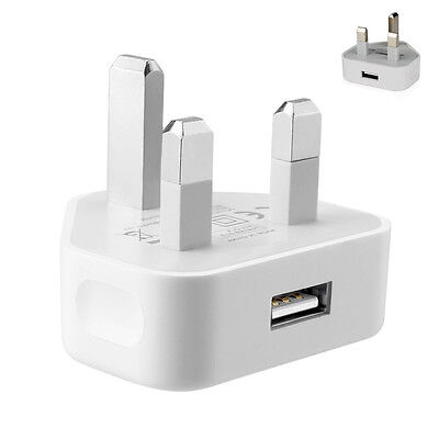 3 Pin UK Travel Plug Adapter Charger Wall Socket USB Port for Phones CE UK STOCK