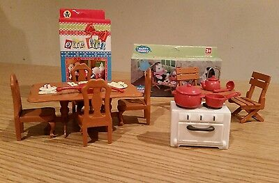 Sylvanian Style Dolls House 2 Sets Of Furniture