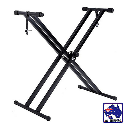 Folding Keyboard Stand Adjustable Music Piano Double Braced X Type SMUK52902
