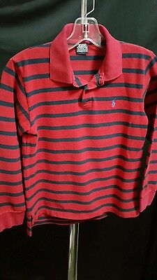 Polo by Ralph Lauren Boys Long Sleeve Striped Shirt Size  S