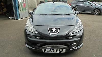peugeot 207 cc 2008 black 1.6 EP6 compleate front end (BREAKING WHOLE CAR)