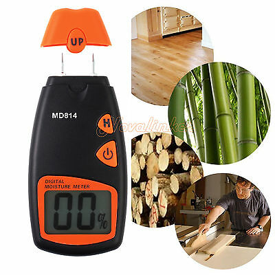 New 4 Pin Digital Moisture Meter Wood Timber Damp Detector Tester Plaster Sensor