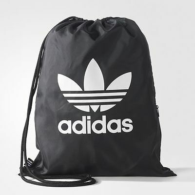 adidas Originals TREFOIL MEN'S GYM SACK Attached Drawcords,Shoulder Straps,Black