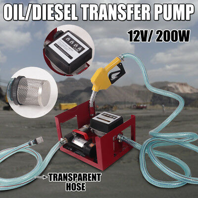 12V Oil Transfer Pump Diesel Fuel Electric Bio-Diesel Commercial Bowser Auto New
