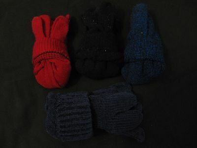 Kids Youth Womens Winter Gloves Assorted Colors Set of 4 Pairs - SIZE OS