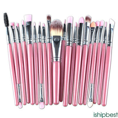 20pcs Makeup BRUSHES Kit Set Powder Foundation Eyeshadow Eyeliner Lip Brush GOOD