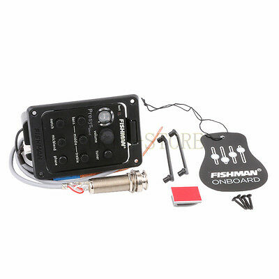 Fishman Presys Blend 301 Acoustic Guitar Pickup Preamp EQ Tuner Piezo Mic Beat