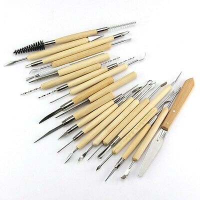 Pack 22 Carvers Polymer Clay Pottery Ceramics Needle Sculpting Modeling Tool BU