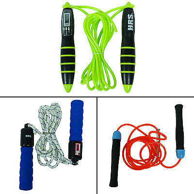 HRS springen Cardio-Fitness-Training Skipping Rope PVC Kunststoff Griff