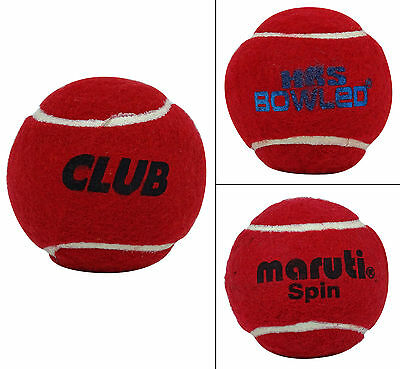 Rollte Rubber Tennis Cricket roten Ball Pack 6 - schweres Gewicht