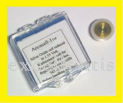 Battery Accucell-1  1.35 volt for Bulova Accutron Cal. 214 Tuning Fork Watches
