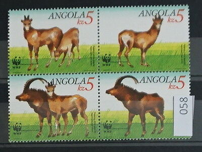 S0 0058 WWF Animals Angola MNH 1990 Antelopes MI 799-802