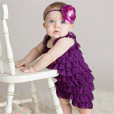 Kids Baby Girls Princess Party Wedding Dress Bow Sleeveless Lace Cake Skirt Gown