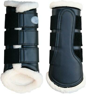 Flextrainer Horse Protection Boots with Fleece Lining. Black Harry's Horse