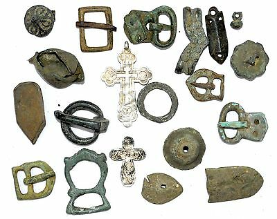Lot Of 20 Roman / Medieval Bronze Artifacts For Cleaning -  Fantastic - G45