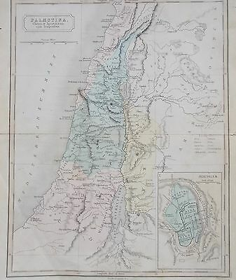 Map of Palestine in time of Christ.  1880 S Hall. Middle East. BIBLICAL