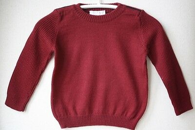 Gucci Baby Burgundy Merino Wool Sweater 9-12 Months