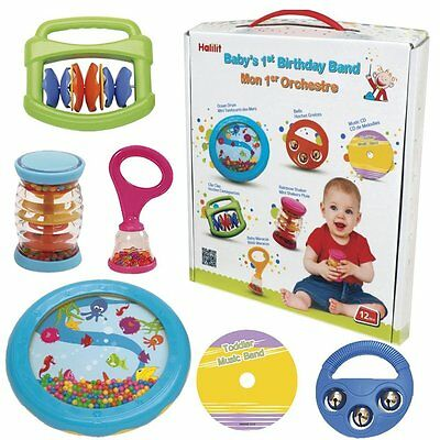 Halilit Baby's First Birthday Band Musical Instrument Gift Set Drum Bell Sounds