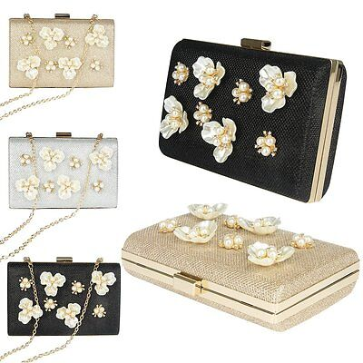 Women Lady Bag Glittered Clutch Wedding Evening Party Purse Banquet Shoulder Bag