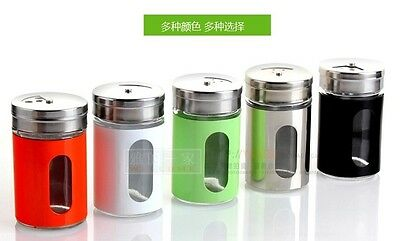 Stainless Steel Seasoning Box Kitchen Salt Pepper Spices Jars Condiment Tank Hot