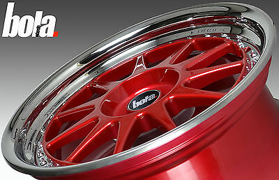 18 inch BOLA B4 5x108 RED 5 stud Ford Peugeot alloy wheels