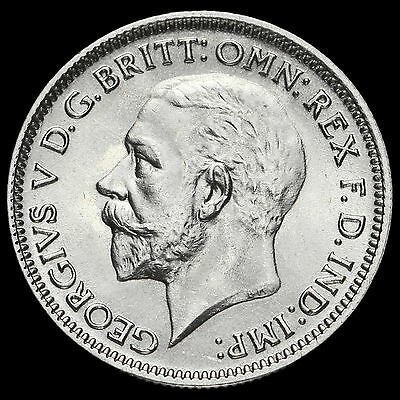 1936 George V Silver Sixpence, UNC #3