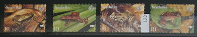 S0 0122 WWF Animals Seychelles MNH 2003 Frogs
