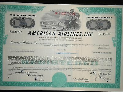 American Airlines, Inc. Bond Certificate  FREE SHIPPING !!!
