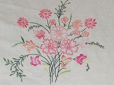 """77.2""""German Folk Vintage Hand Embroidered Hand Woven Tablecloth bed sheetCottage"""