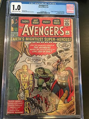 Avengers #1 Comic! CGC 1.0 Iron Man Thor Hulk Ant Man! Stan Lee! Marvel! Not PGX
