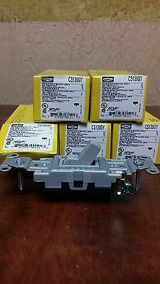 Pack of 7  HUBBELL CS120GY 20A 120/277 VAC, SINGLE POLE SWITCH, GREY, NEW