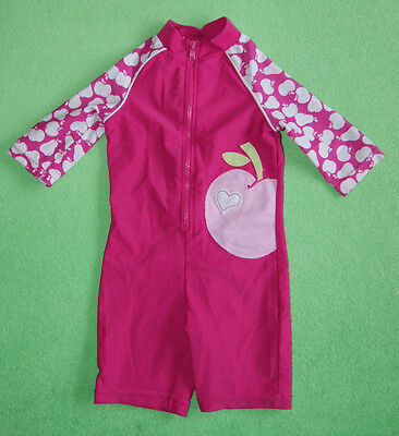 Mother Care pink swimsuit wetsuit with apple for girl 6-9 months